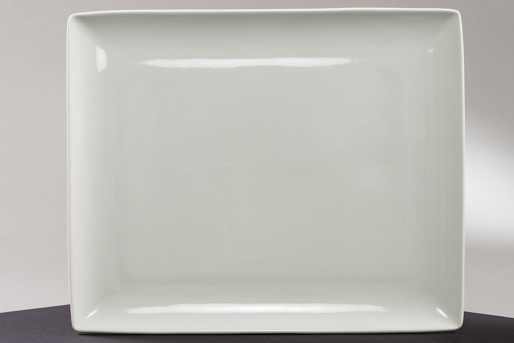 "8"" x 15"" Rectangular Serving Plate (rental price)"