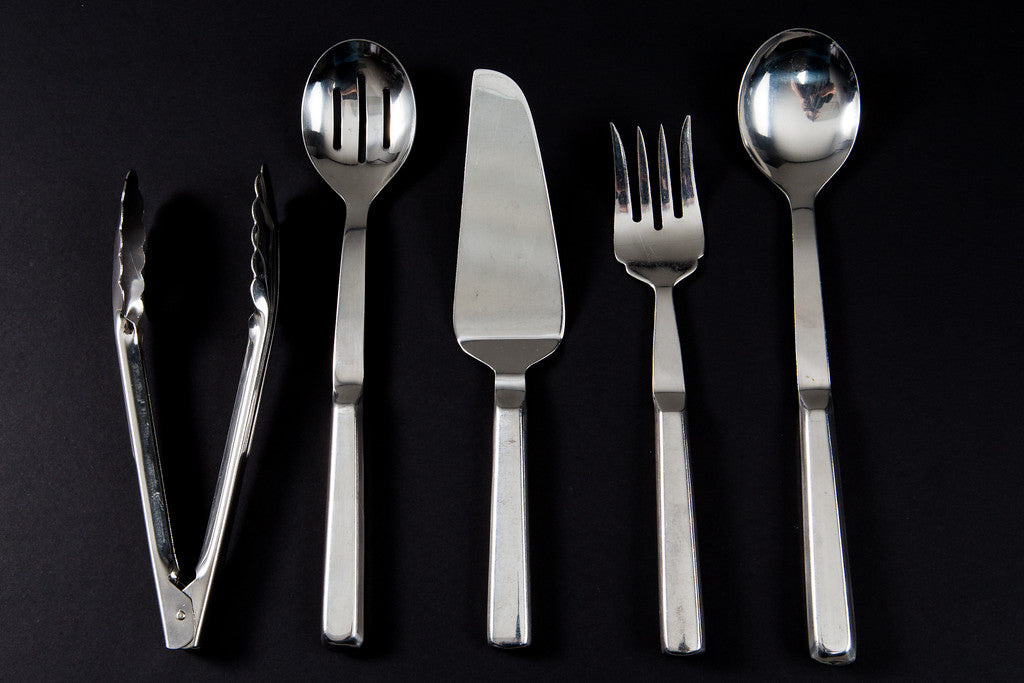 Stainless Slotted Serving Spoon (rental price)
