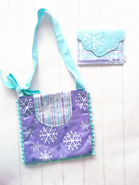 Girls Crossbody Bag Set - {Purple Glitz}