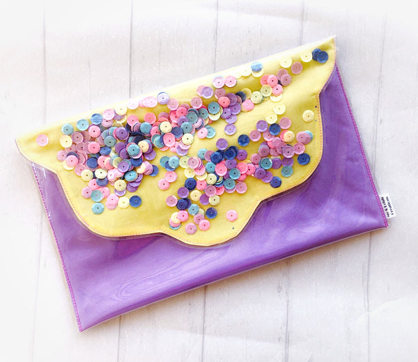 Confetti Clutch - {Pastel Purple + Yellow}
