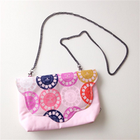 Crossbody Clutch - {Soft Pink Viewfinders}