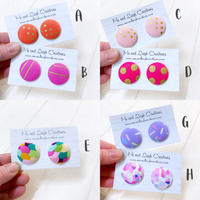 Fabric Stud Earrings - {Maxi Party Fun}