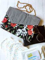 Oversized Crossbody Clutch - {Rockabilly}