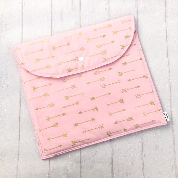 Nappy Clutch - {Pink + Gold Arrows}