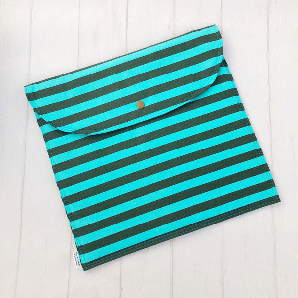 Nappy Clutch - {Teal Stripes}