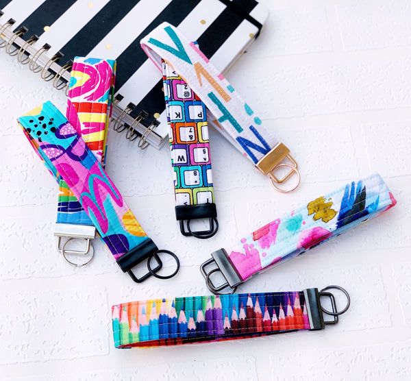Wristlet Key Fobs - { Teacher Love }