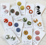 Fabric Stud Earrings - { Autumn/Winter }