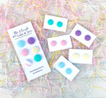 Fabric Stud Earrings - {pastel perfection}