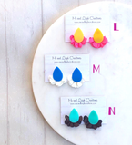 'Alice' Earrings - {Acrylic + Solid Chiffon}