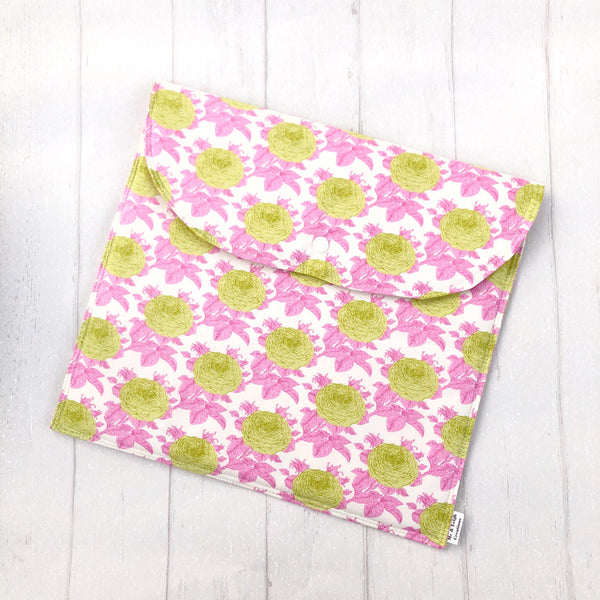 Nappy Clutch - {Pink + Green Floral}