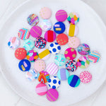 Fabric Stud Earrings - {Party Fun}