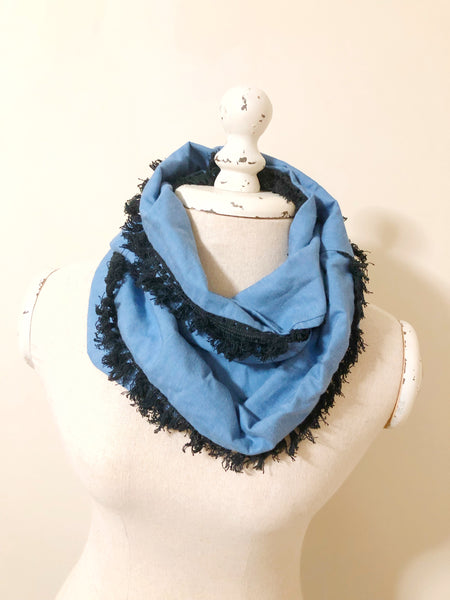 Infinity Scarf - {Chambray and Tassel}