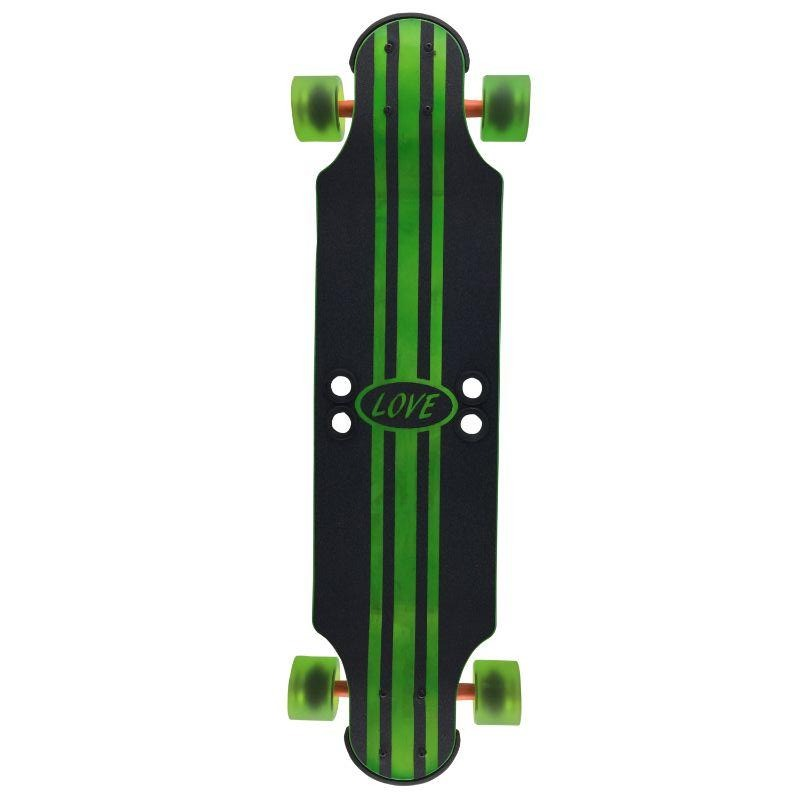 "Green Stripes 32"" Ginger Ale Longboard"