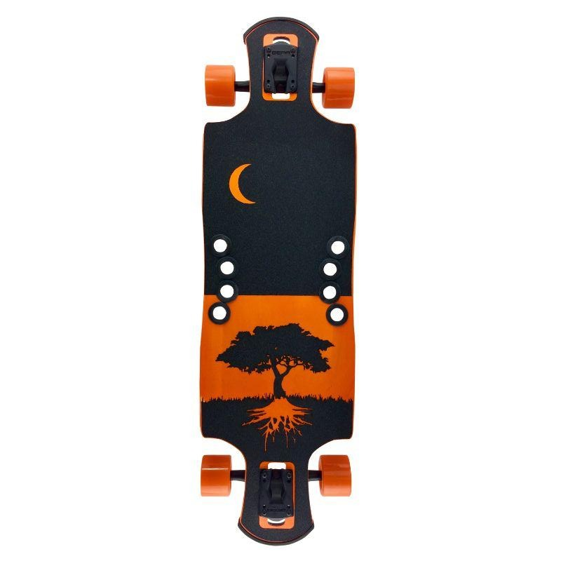 "Orange Midnight 35"" Oat Soda DTP Longboard"