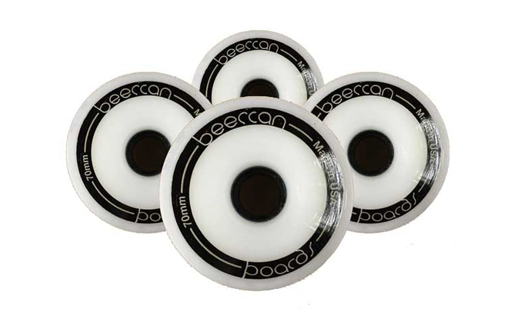 Slick Wheels - 70mm, White