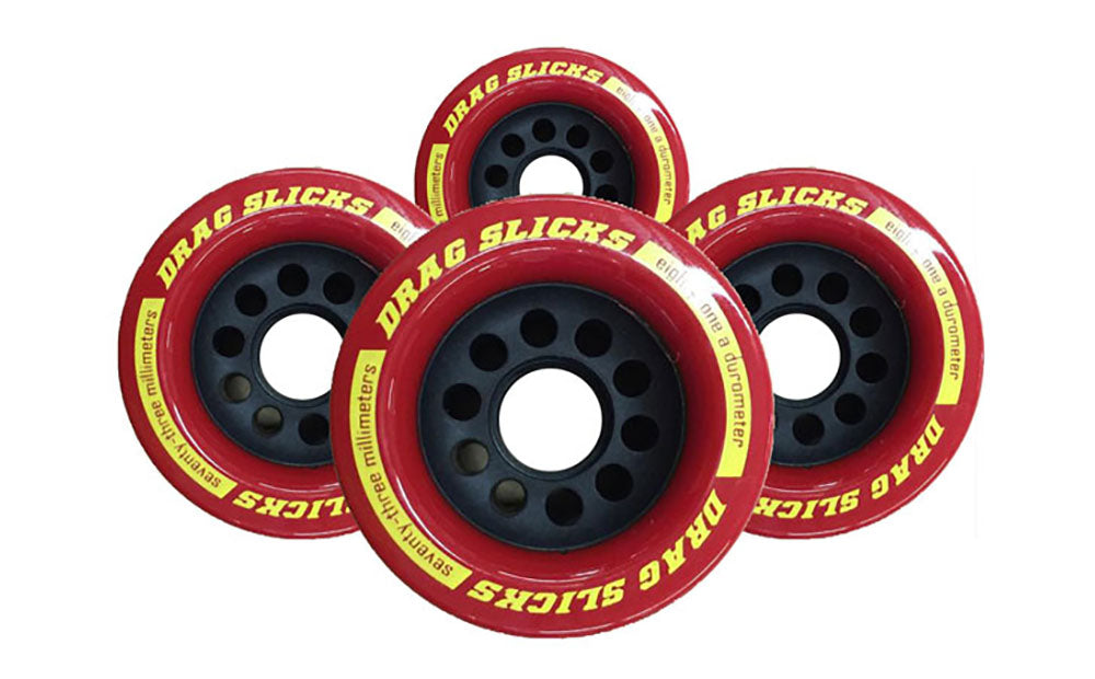 Drag Slicks Wheels - 73mm/81a, Red