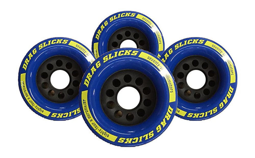 Drag Slicks Wheels - 76mm/84a, Blue