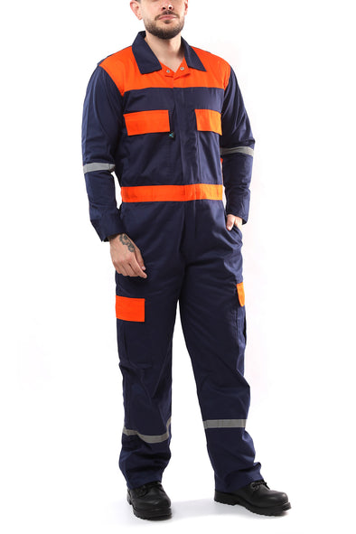 KC01 - Kolossus Deluxe Long Sleeve Cotton Blend Coverall with Enhanced Visibility