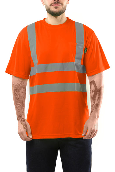 KS02 - Kolossus AirFlex ANSI Class 2 Compliant High Visibility Short Sleeve Safety Shirt - Orange