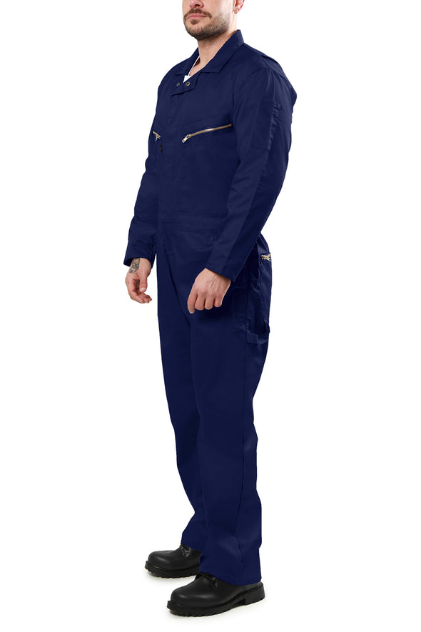 KC07 - Kolossus Pro-Utility Cotton Blend Long Sleeve Coverall with Zip-Front Pockets