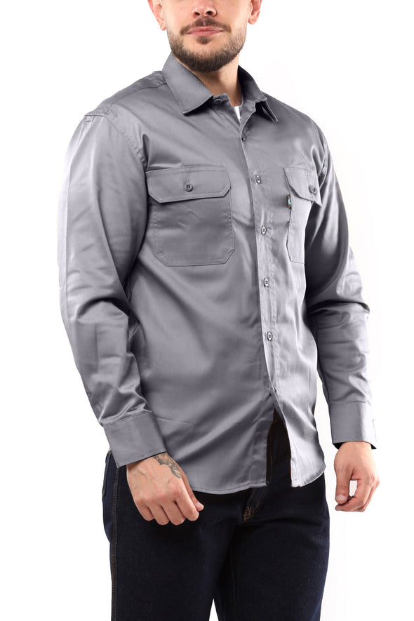 KS04 - Kolossus Men's Lightweight Cotton Blend Long Sleeve Work Shirt with Pockets