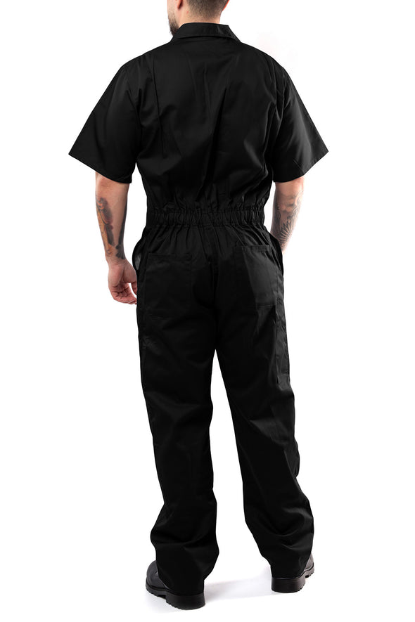 KC04 - Kolossus Deluxe Short Sleeve Cotton Blend Coverall with Multi Pockets and Antistatic Zipper