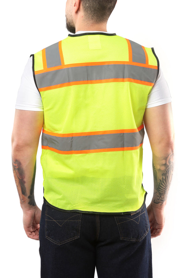 KV02 - Kolossus Deluxe High Visibility Vest with Multi Frontal Pockets | ANSI Class 2 Compliant
