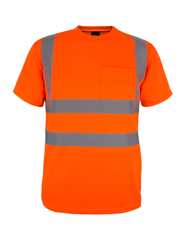 KS02 - Kolossus 100% Polyester ANSI Class 2 Compliant High Visibility Short Sleeve Safety Shirt - Orange