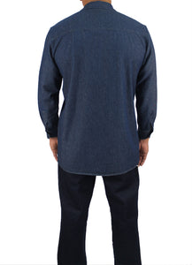 Kolossus Men's Lightweight 100% Cotton Long Sleeve Work Shirt with Pockets