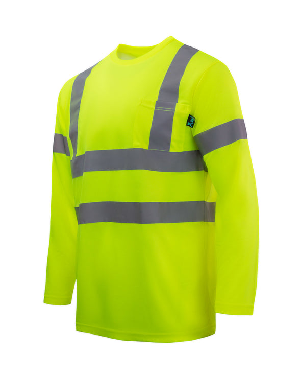 KS07 - Kolossus AirFlex ANSI Class 3 Compliant High Visibility Long Sleeve Safety Shirt - Yellow
