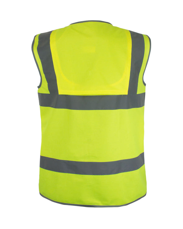 KV01 - Kolossus Premium Hi-Vis Safety Vest | Frontal Pockets | Cool Dry Mesh Back | ANSI Class 2