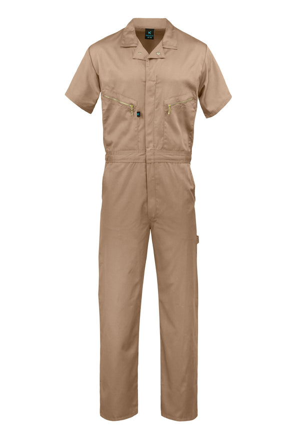 KC08 - Kolossus Pro-Utility Cotton Blend Short Sleeve Coverall with Zip-Front Pockets