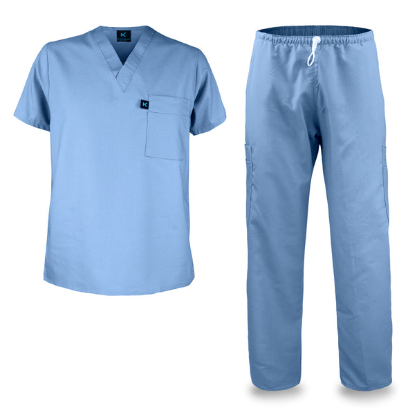 KM01M - Kolossus Men's Comfort Fit Medical Scrub Set
