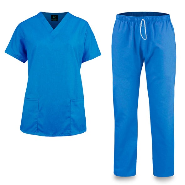 KM51L - Kolossus Women's Cotton Poly Blend Medical Scrubs Set