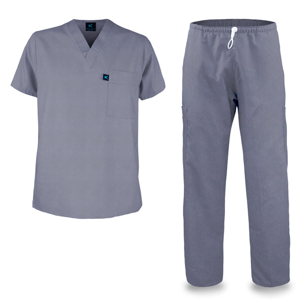 Kolossus mens medical scrub set chambray