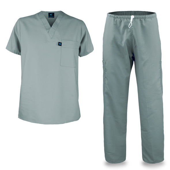 Kolossus mens medical scrub set grey