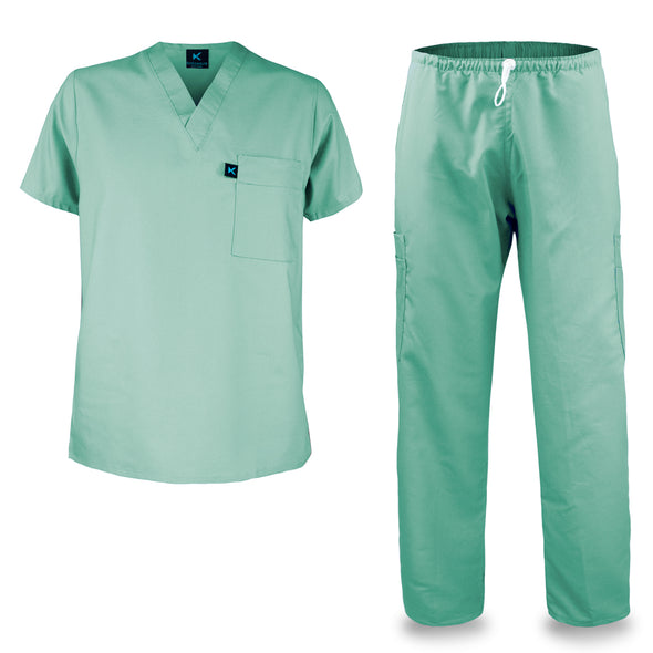 Kolossus mens medical scrub set light green
