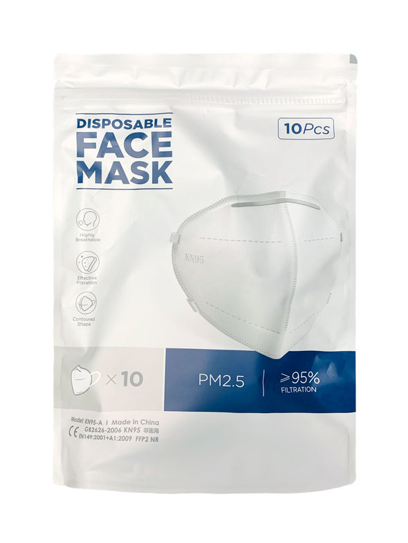 10 PCS KN95 Disposable Face Mask Mouth Cover Medical Protective Respirator