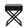 ANGIE SIDE TABLE WITH CROSS LEGS | ANTIQUE BLACK