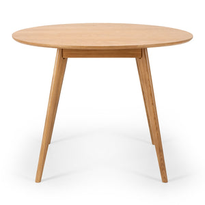 RADIUS OAK ROUND DINING TABLE