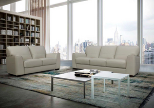 BACARI 3 SEATER OR 2 SEATER  LEATHER LOUNGE SUITE | 4 COLOURS