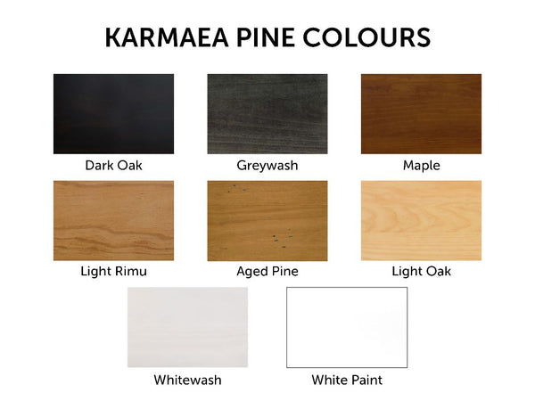 KARAMEA PINE 5 DRAWER TALLBOY | NZ MADE | 8 STAIN OPTIONS