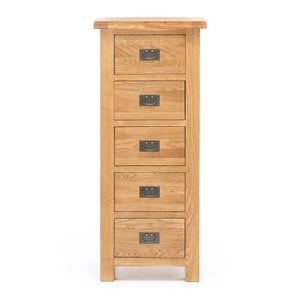 TUDOR OAK 5 DRAWER LINGERIE CHEST