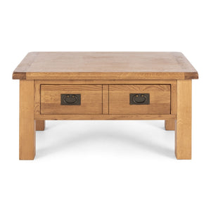 TUDOR OAK SMALL COFFEE TABLE WITH DRAWER