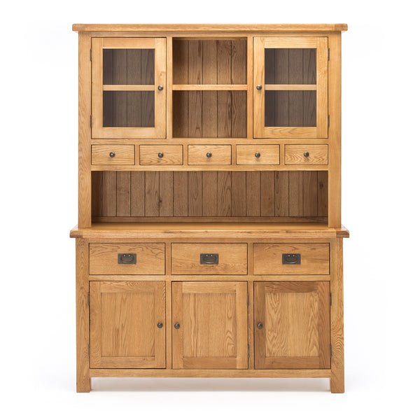 TUDOR OAK HUTCH DRESSER