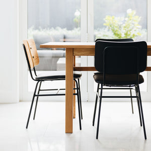 LUKAS PANEL CHAIR | NATURAL OR BLACK