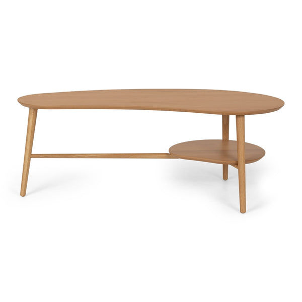 OSLO SHAPED COFFEE TABLE WITH SHELF