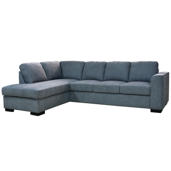 KRISTIE CHAISE WITH SOFA BED - CHARCOAL & LIGHT GREY