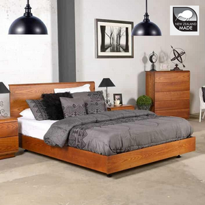 KARAMEA ASH BED | SINGLE TO SUPER KING | NZ MADE | 7 STAIN OPTIONS