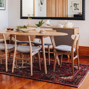 OLSEN SOLID OAK 2000 OVAL DINING TABLE